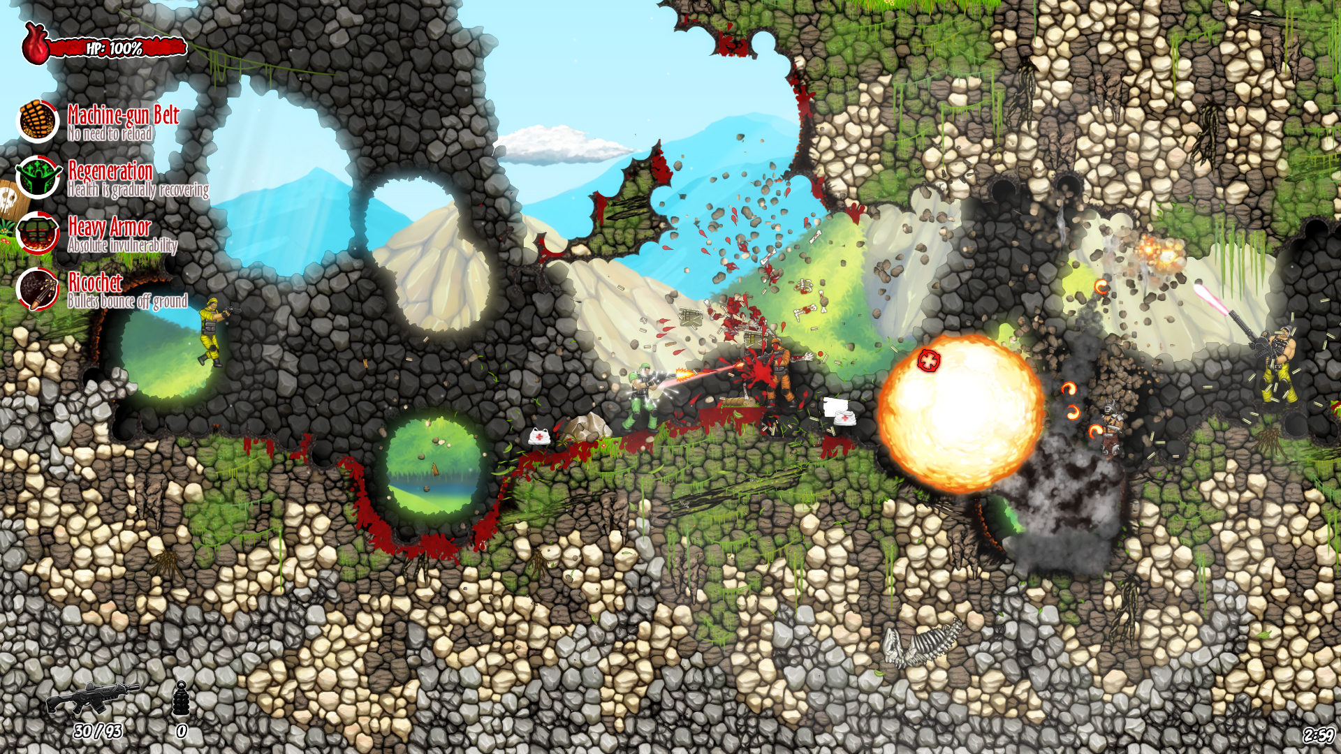 Muscles And Bullets Screenshot